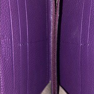 Versace Collection Bags - Purple zip around Versace wallet.